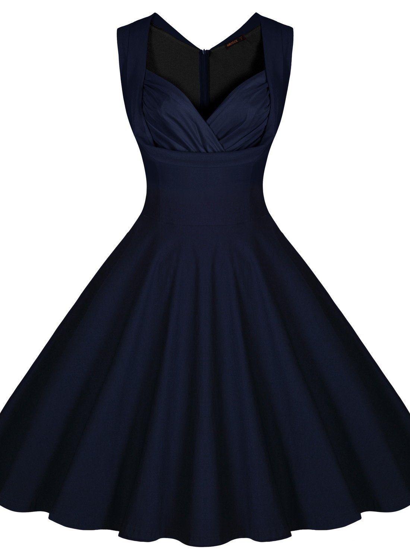 073d87d96 Min Miusol Women s Cut Out V-Neck Vintage Casual Retro Dress ...
