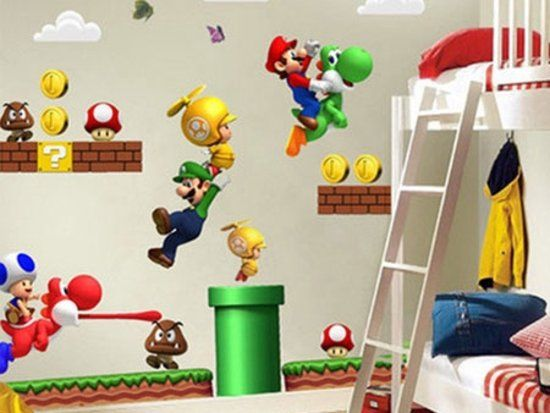 Mario Bros Muurstickers.Super Mario Muursticker Nintendo Wii In 2019 Disney Diy Decor