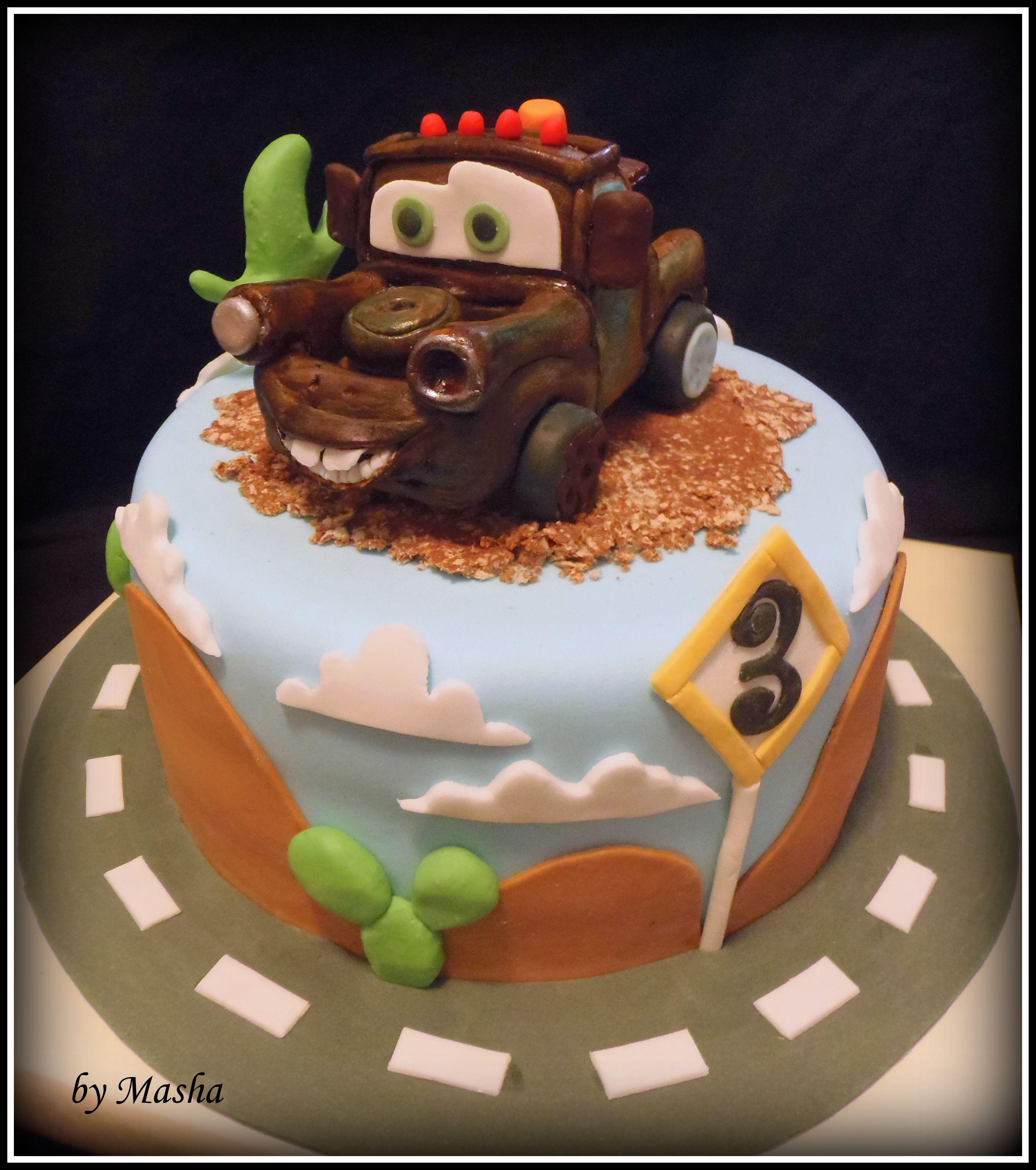 Fabulous Tow Mater Cake Cake Mater Cake Cakes For Boys Funny Birthday Cards Online Benoljebrpdamsfinfo