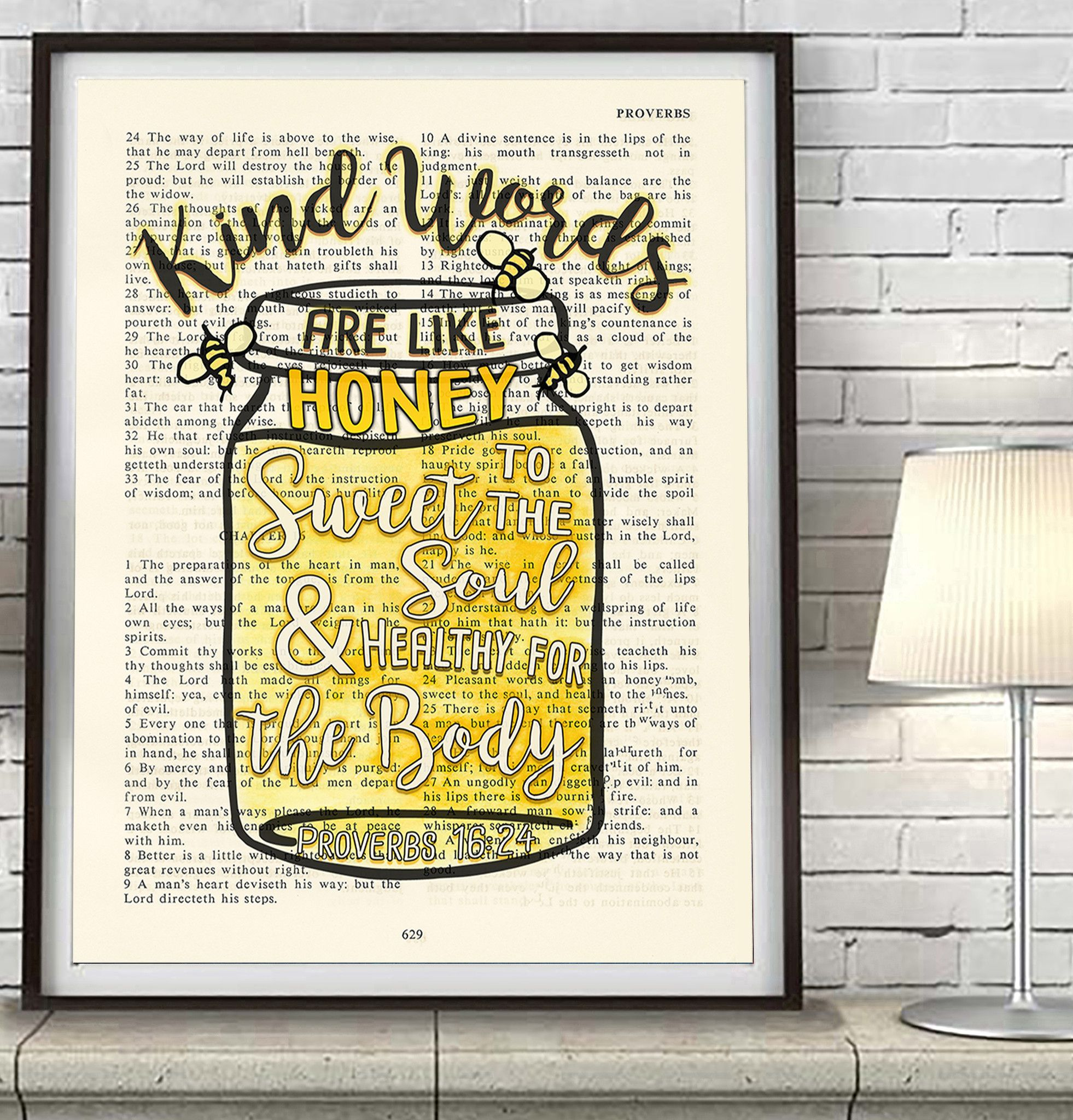 Kind words are like honey- Proverbs 16:24 Bible Page Christian ART ...