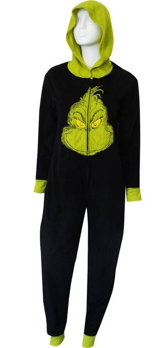 Dr Seuss Grinch Onesie Pajama For Women I Want My Stzyle