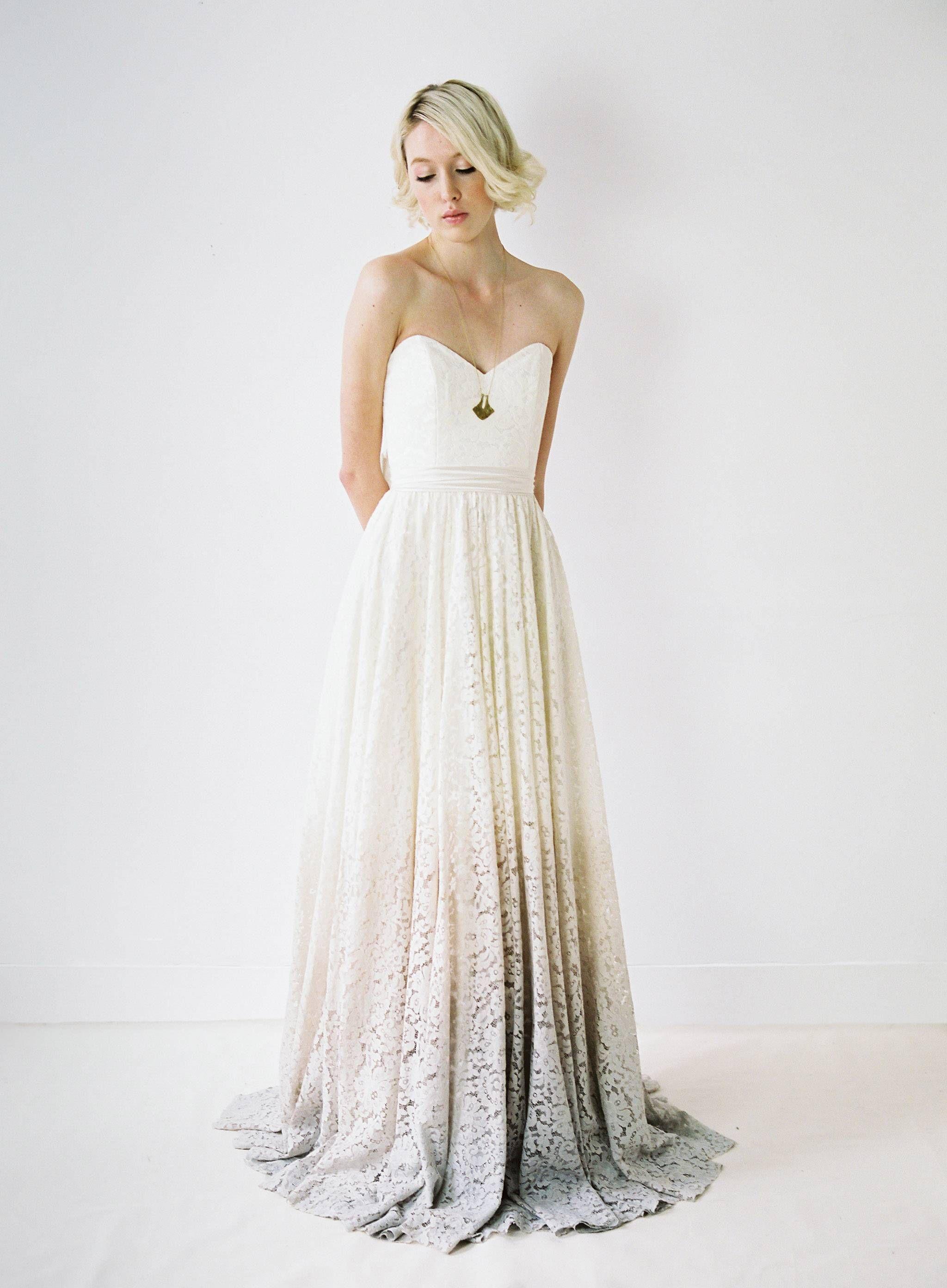 Dipped wedding dress  hello gorgeous  Dresses  Pinterest  Bridal boutique Confident