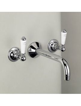 Marflow St James Three Hole Wall Mounted Basin Mixer By Marflow