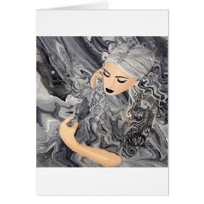 Koi Noir Card - marble gifts style stylish nature unique personalize