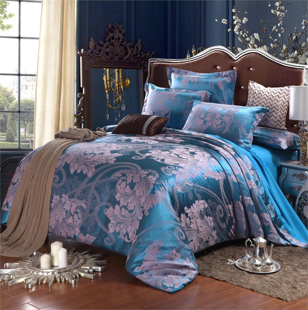 Jacquard Bedclothes Silk Bedding set Wedding Bedding set bed linen ... : silk quilt singapore - Adamdwight.com