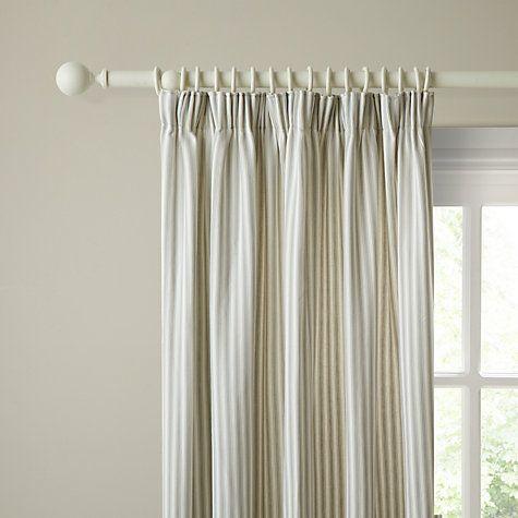 Buy John Lewis Ticking Stripe Lined Pencil Pleat Curtains Online At Johnlewis Com Ticking Stripe Curtains Curtains Pencil Pleat