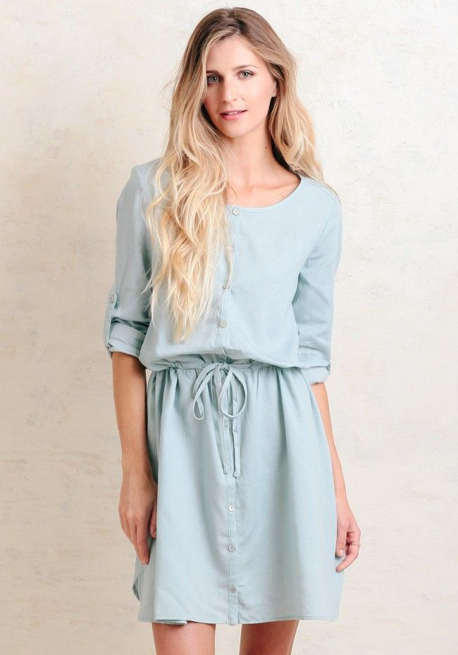 Lunch By The Shore Chambray Dress