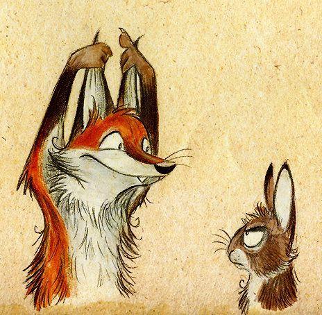 Fox and rabbit comics in 2018 pinterest dessin illustration and renard - Dessin renard ...