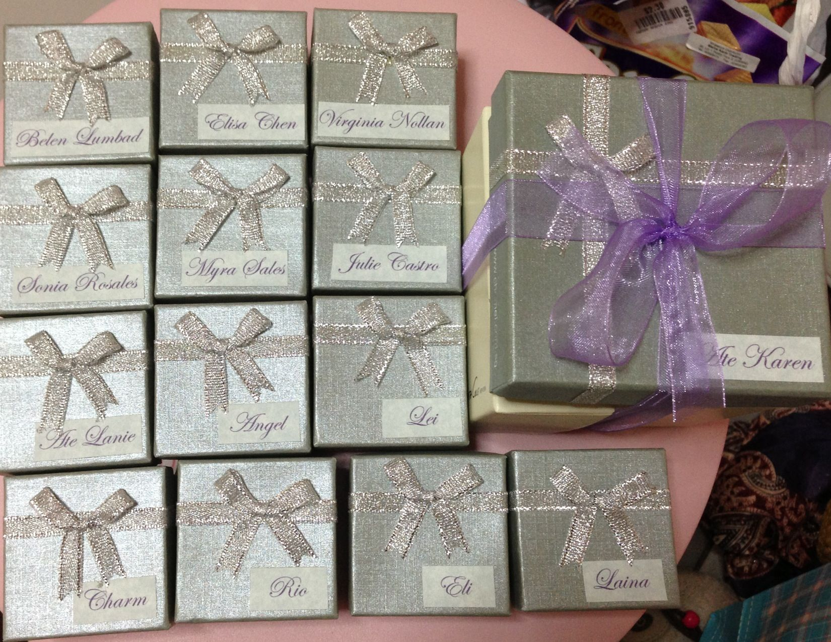 Gifts For Wedding Sponsors: Principal Sponsors And Entourage Gift (girls)