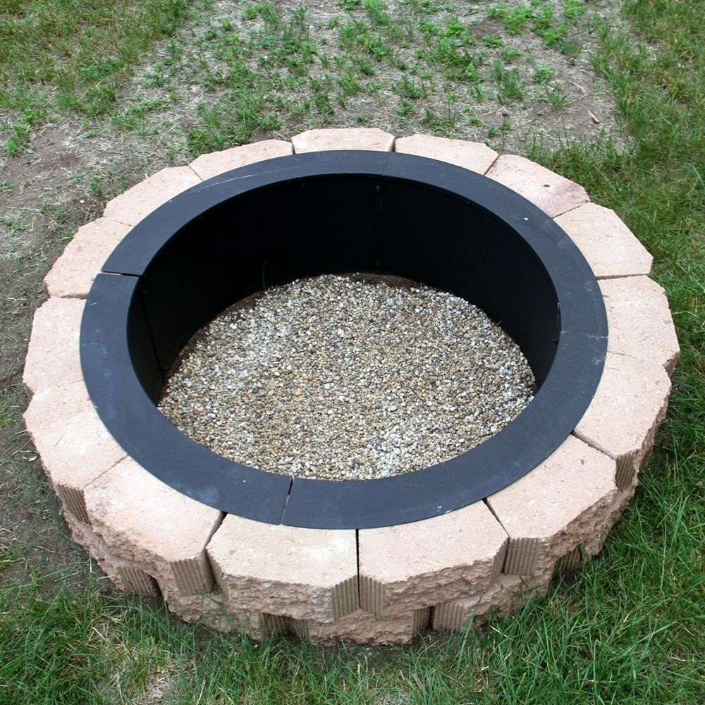 Make Your Own Steel Fire Pit Rim In Ground Liner Build Your Own Outdoor Firepit Sunnydaze In Ground Fire Pit Fire Pit Backyard Fire