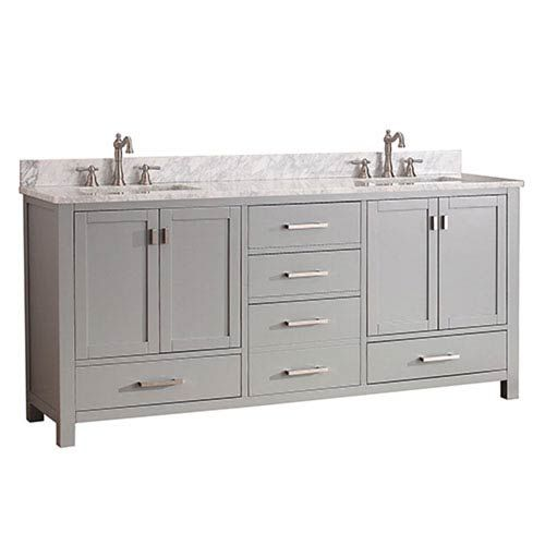 251 first uptown chilled gray 72 inch double vanity combo with white rh pinterest com