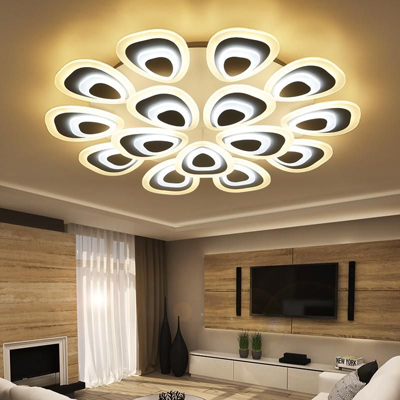 Acrylic Thick Modern Led Ceiling Lights For Living Room Bedroom Dining Room Home Ceiling Lamp Light Home Lighting Fixtures Tavan Dekorasyon