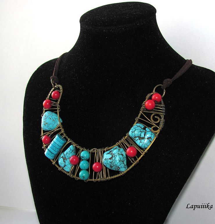 "Contas de colar handmade.  Mestres Fair - Handmade pendente ""Tibete"".  Handmade."