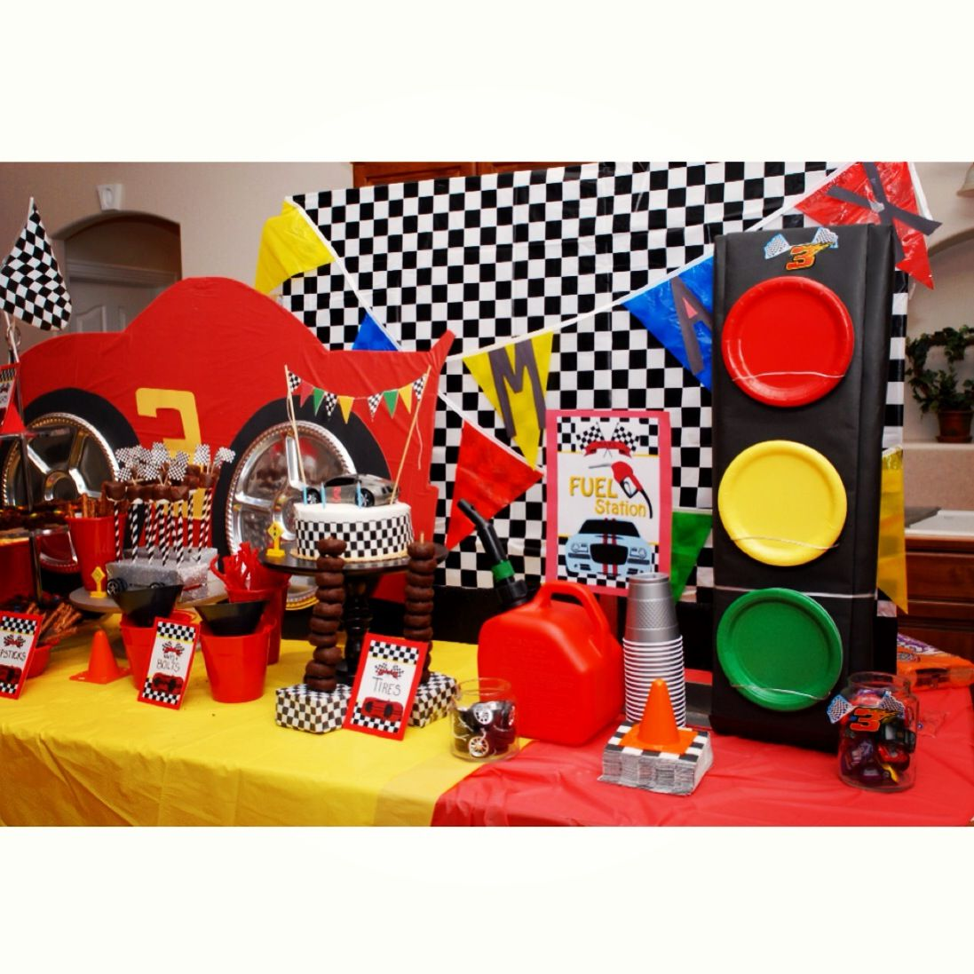 Car Theme Birthday Party Party Planning Cars Birthday