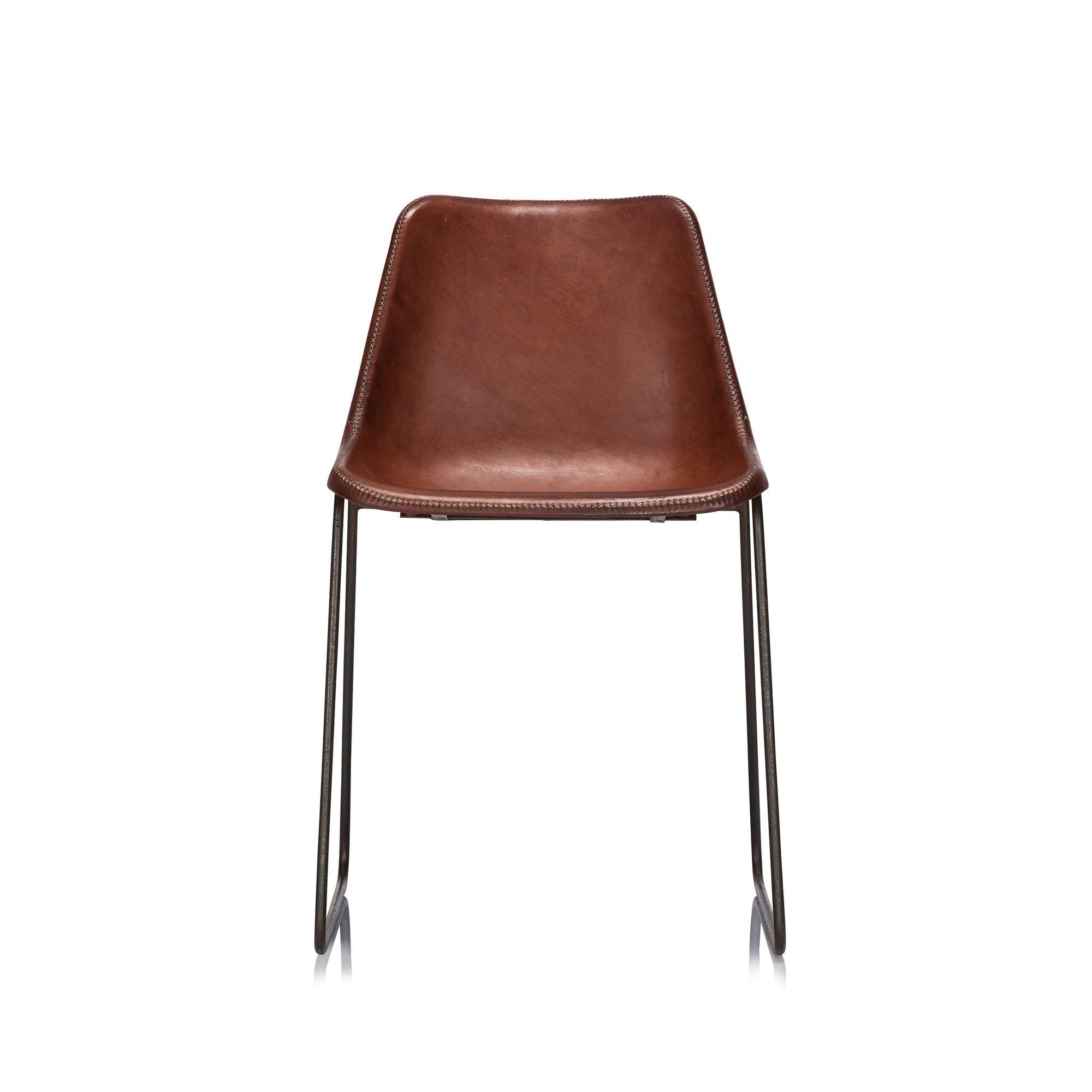 svelte modern sled chair upholstered in full aniline south american rh pinterest com