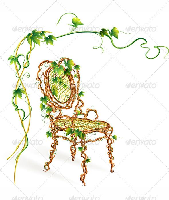 Elegant Viennese Chair Made of Vine  #GraphicRiver         elegant ecological Viennese chair made of pure vine with leaves isolated on white background     Created: 10April12 GraphicsFilesIncluded: VectorEPS Layered: Yes MinimumAdobeCSVersion: CS Tags: Viennese #beautiful #chair #ecological #ecology #elegant #fairy #fantasy #fine #furniture #grape #green #leaves #plant #pure #vine