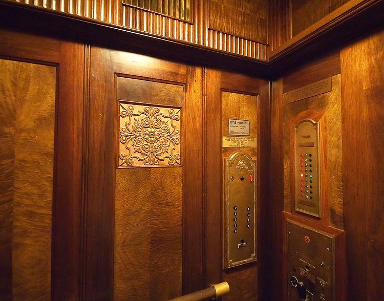 The Wood Panelled Interior Of 1930 S Elevator Elevators