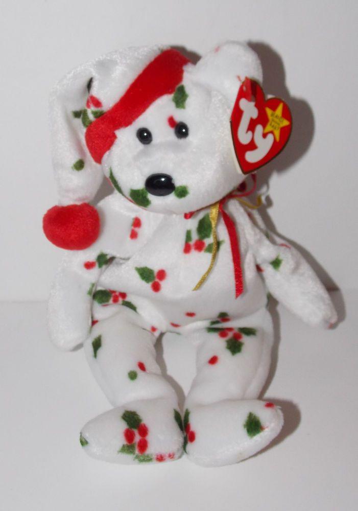 686db360235 1998 holiday teddy bear Beanie Babies