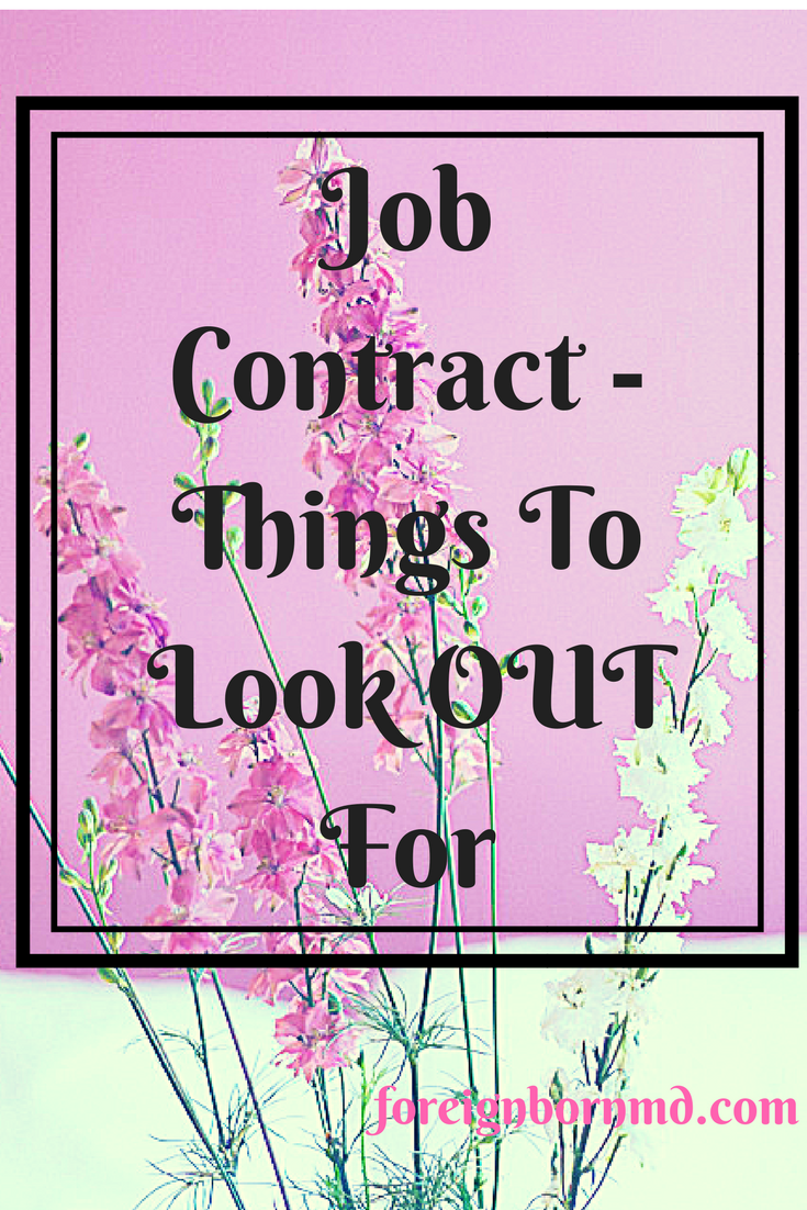 Congratulations On Your New Job Contract Terms To Look Out For