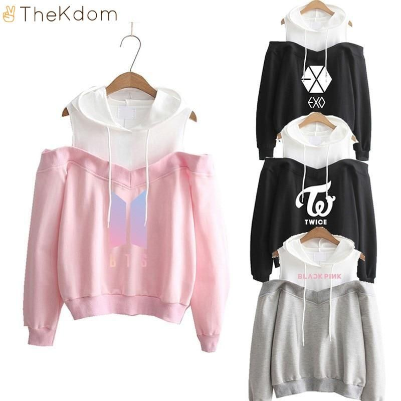 All Kpop Groups off-Shoulder Sweatshirt | Clothes I want but can't