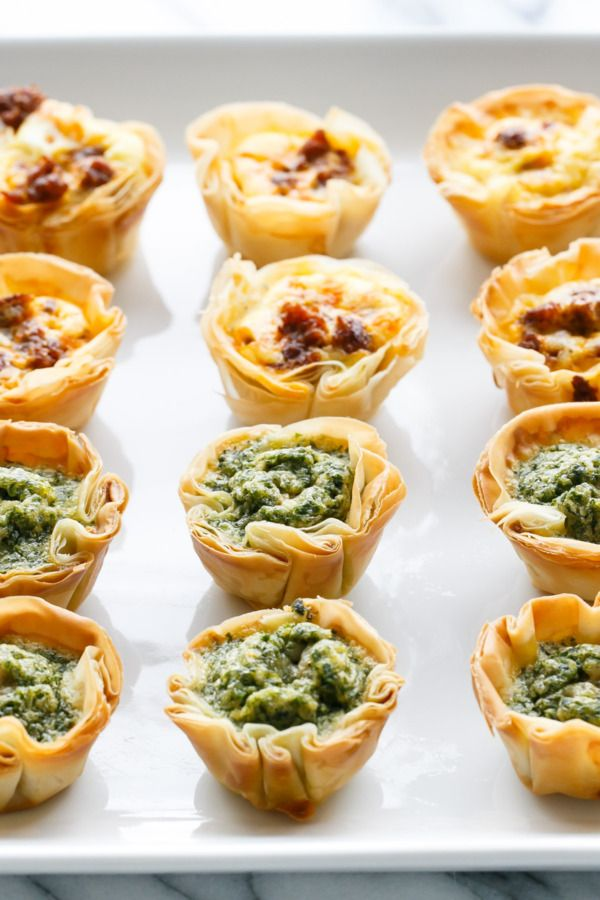 Mini Quiche Bites with Phyllo Crust | Love and Oli