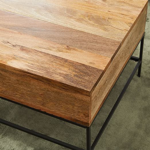Industrial Storage Coffee Table Large 50 Raw Mango At West