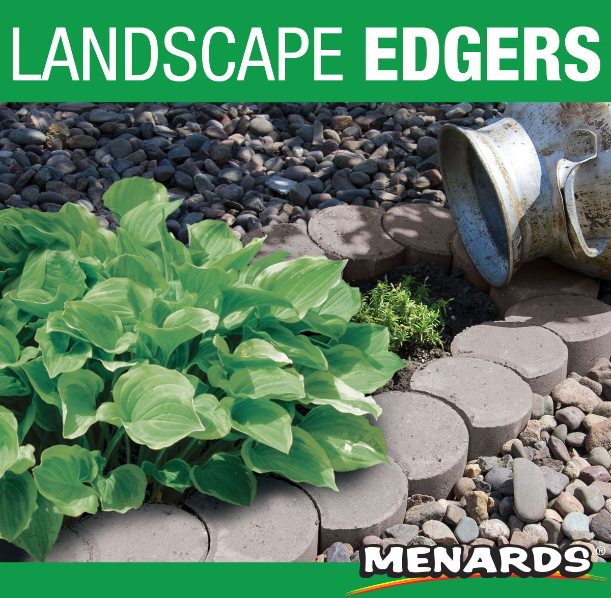 Border your flowerbed path or terrace with these crescent