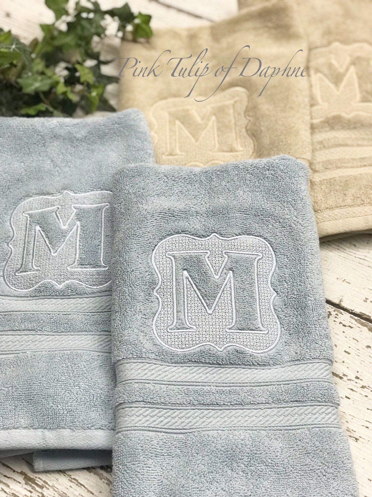 Excited To Share This Item From My Etsy Shop Pair Of Monogrammed