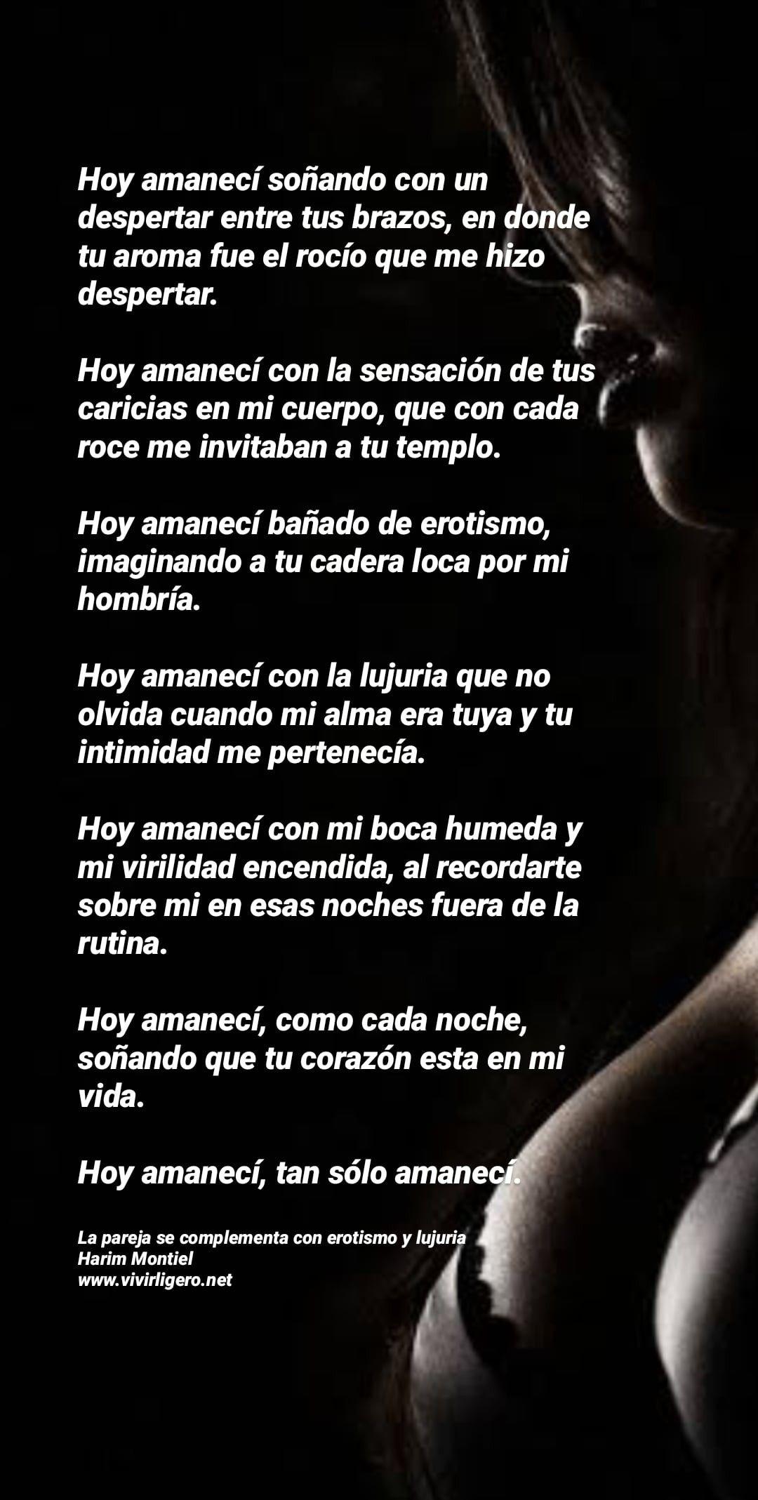 Hoy Amanecí Hoy Amaneci Amor Y Sensualidad Poemas Románticos