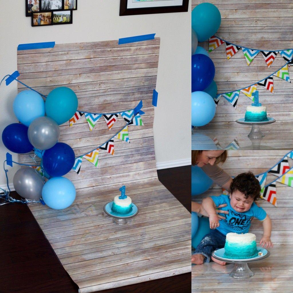 Diy Cake Smash Photos On A Dime Baby Birthday Photoshoot Diy Cake Smash Photoshoot Diy Smash Cake