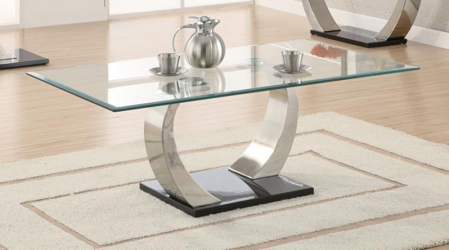 Coaster Furniture Satin Glass Top Coffee Table Contemporary Coffee Table Contemporary End Tables Retro Coffee Tables