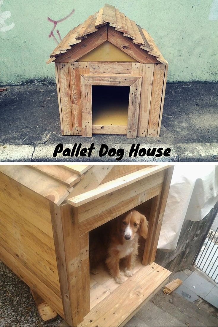 Dog House Made Out Of Pallets Pallet Dog House Dog Houses Diy