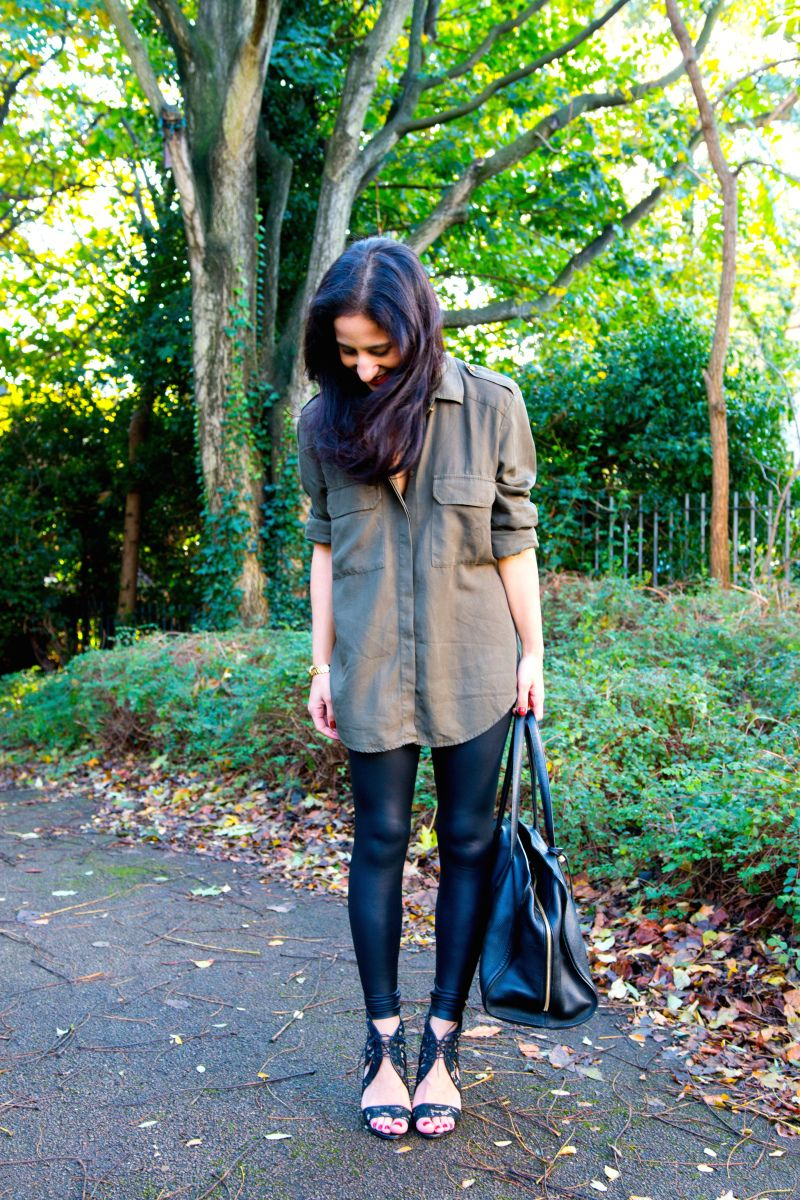 Zara, Alexander McQueen, Givenchy and leather leggings - perfect day to night look