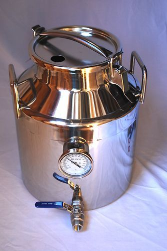 Stainless steel beer and wine fermenter 7 5 gallons 5 for Craft a brew fermenter