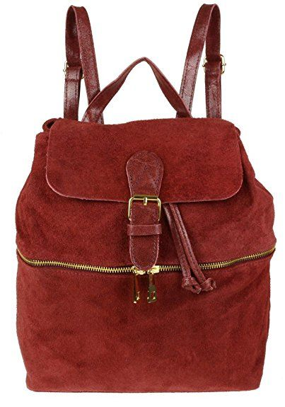 Y Handbags Italian Suede Leather Backpack Rucksack Burgundy Co Uk Shoes Bags