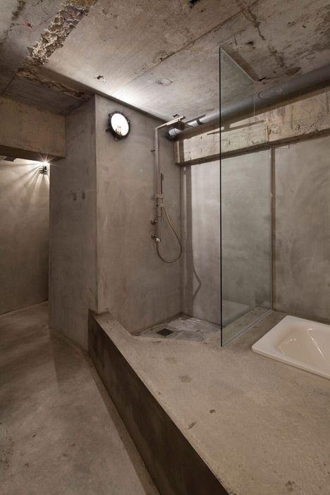Pin By Galatia Ioannidou On Bathroom Concrete Interiors Concrete House Bathroom Design