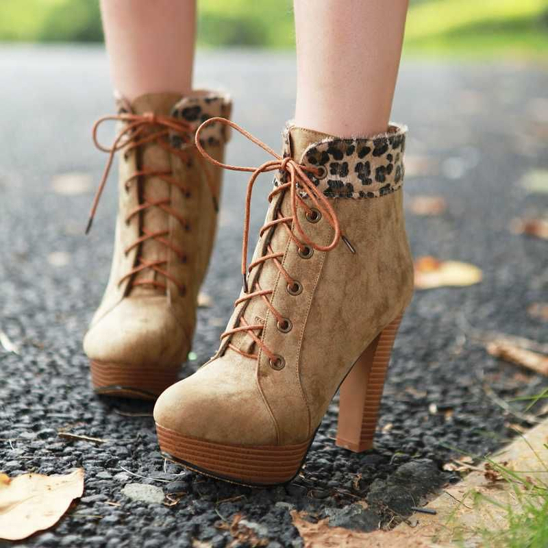 2012 New Korean Fall Strappy Ankle Boots For Girls With Platform ...