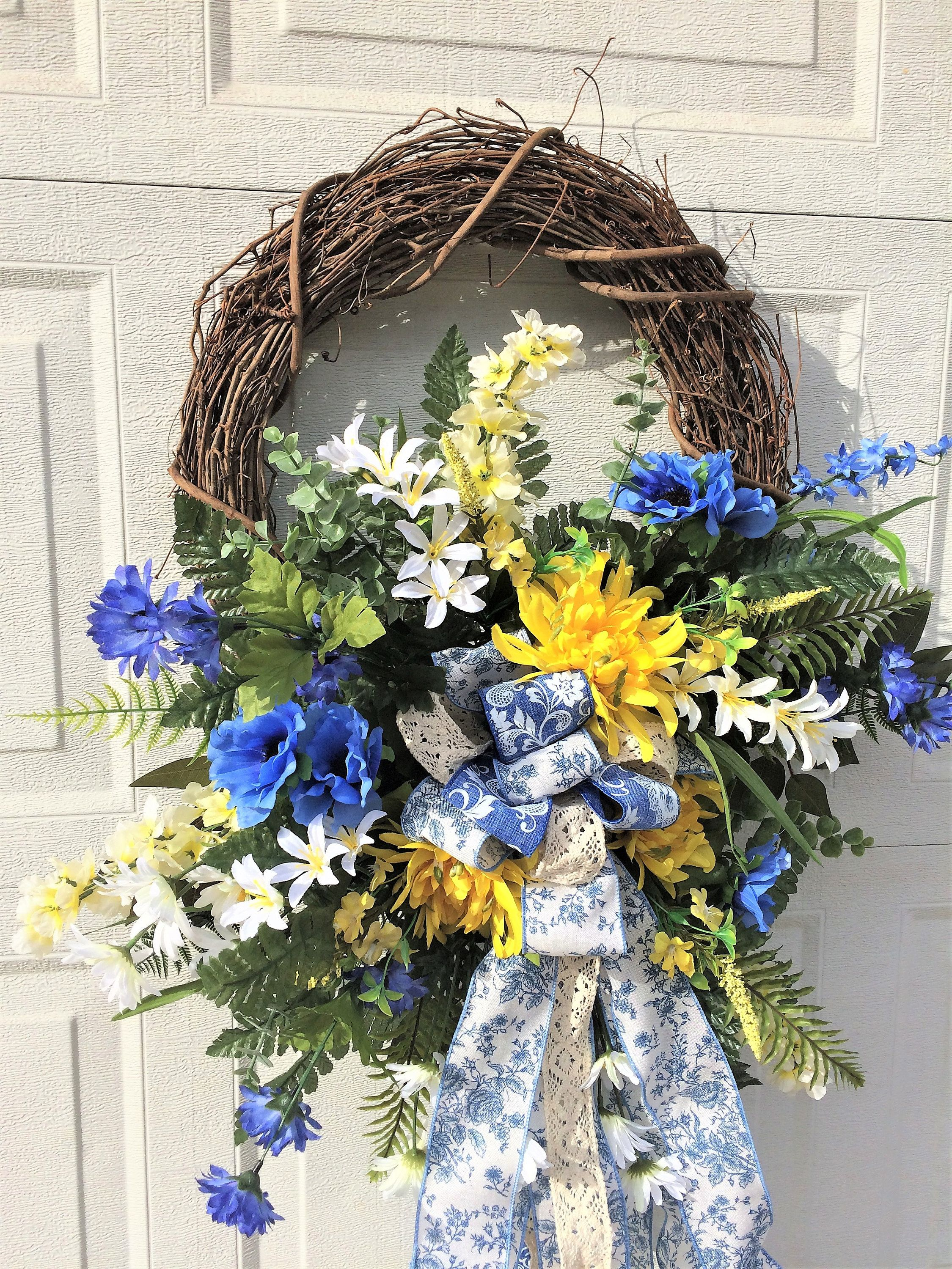 doors ios style small spring wreath wreaths door farmhouse sale