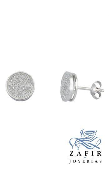 7a459cb11125 Pendientes de plata rodiada con pave de circonitas micro engaste ...