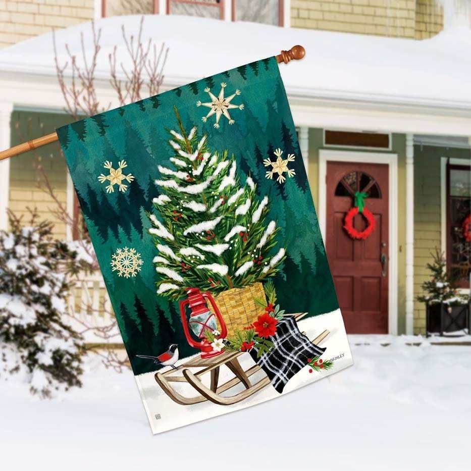 Scandi Christmas Tree House Flag 28 X 40 Breezeart Breezeart Christmas Flag House Scandi Tre In 2020 Scandi Christmas House Flags Christmas Tree Decorations
