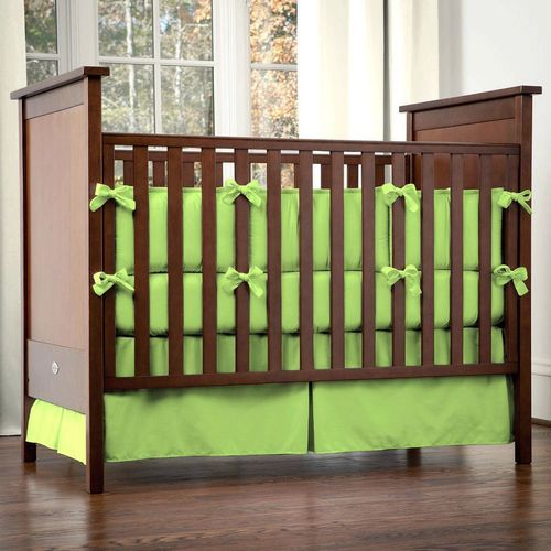 solid color crib bedding in green | Solid Lime Crib Bedding and ...