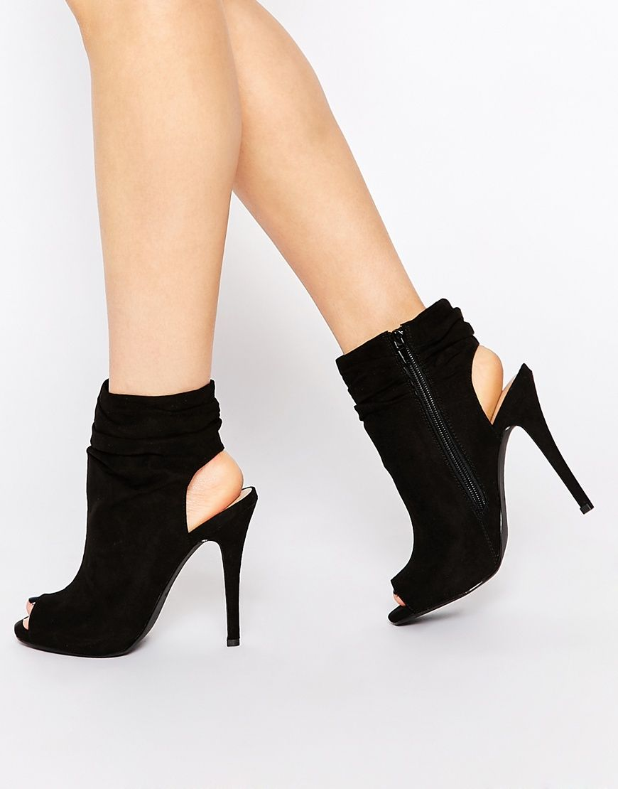 Buy Women Shoes / Call It Spring Talewen Black Peep Toe Heeled Shoe Boots