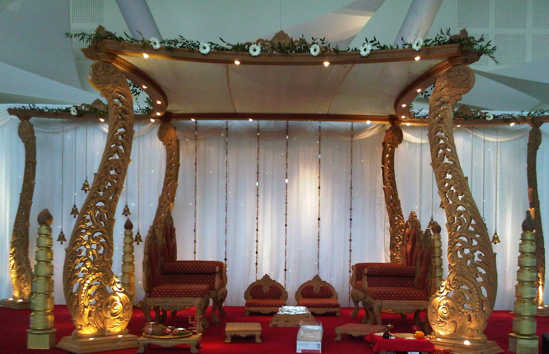 Wedding stage decoration dubai  DH  Wooden Mandap  Mandap  Pinterest  Bear wedding Wedding and
