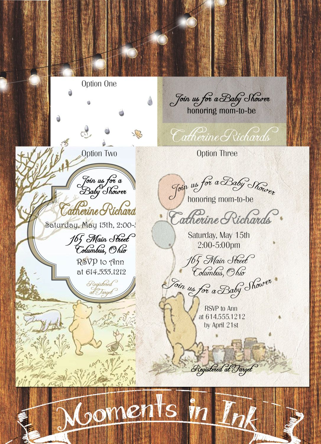 Classic Winnie the Pooh Baby Shower Invitation-DEPOSIT by ...