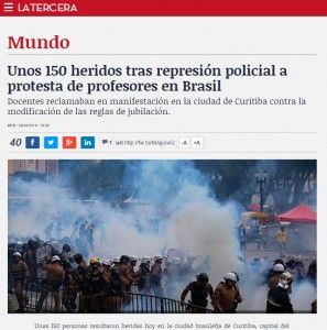 "Reportagem do jornal chileno ""La Tercera"""