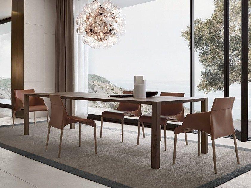 Tavolo Rettangolare In Noce Blade By Poliform Sale Da Pranzo Moderne Design Della Sala Da Pranzo Idee Per Decorare La Casa