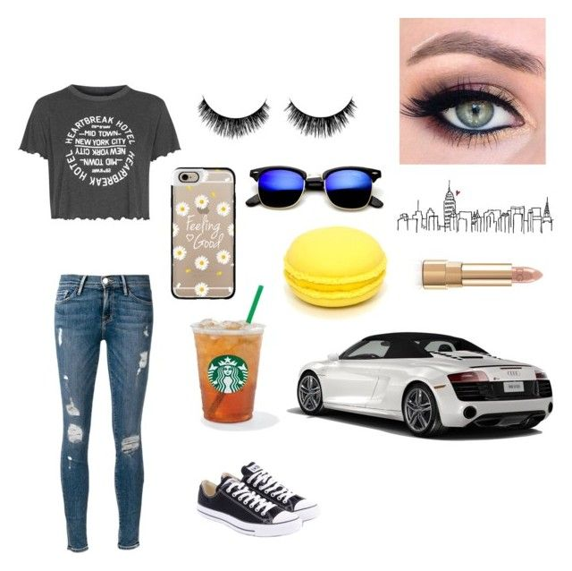 """""""Going shopping"""" by spottsiegurl ❤ liked on Polyvore featuring Frame Denim, Topshop, Converse, Spyder, Casetify and Dolce&Gabbana"""