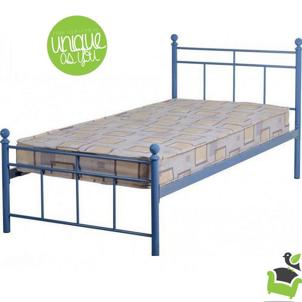 Best Callum Single Bed In Blue Bedroom Beds Metalbeds 400 x 300