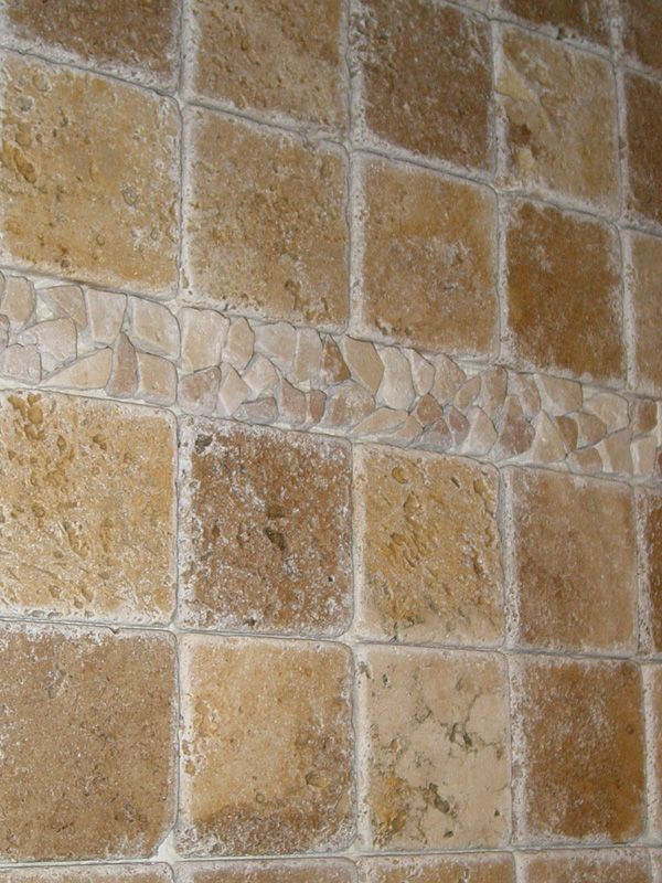 Tumbled Stone Backsplash Diy Kitchen Backsplash Project