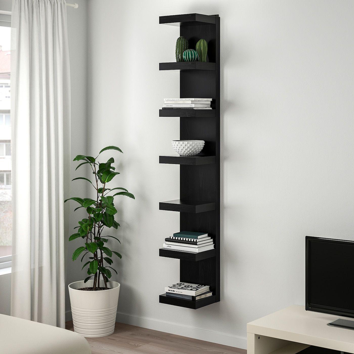 Lack Wall Shelf Unit Black Brown 11 3 4x74 3 4 Ikea In 2020